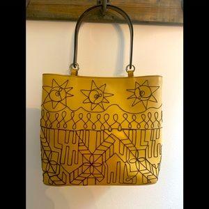 Lamarthe buttery tan Italian leather handbag